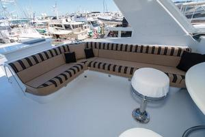 75' Hatteras 75 Motor Yacht 2004 L-Shaped Seating with Updated Cushions