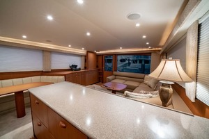 61' Viking Convertible 2002 Galley Looking at Salon