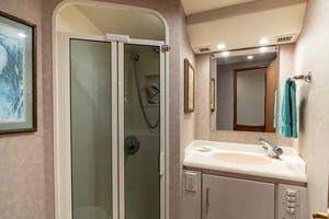 61' Viking Convertible 2002 Head and Shower