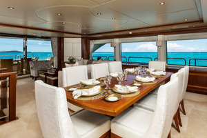 100' Benetti Tradition 100 2007 Main Salon dining