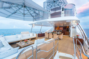 100' Benetti Tradition 100 2007 Upper Deck lounge area and dining