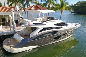 50' Marquis 500 Sport Bridge 2011 Starboard Side