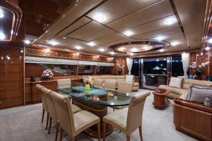 94' Custom Line Ferretti Custom Line Motoryacht 2001 Lady Breanna_dining_4