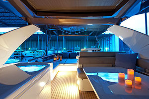 Blue Abalone is a Ferretti Yachts 690 Yacht For Sale in Cancun--5