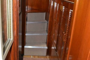49' Gulfstar Motor Yacht 1987 Stateroom Stairs
