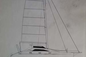 43' Farrier 44 SC 2014 Line Drawing