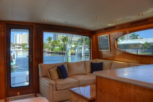 54' Hatteras Convertible 2003 Salon Port Aft
