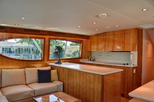54' Hatteras Convertible 2003 Galley