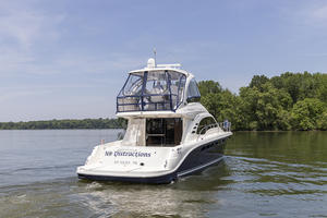 52' Sea Ray 500 Sedan Bridge 2005 STBD quarter profile