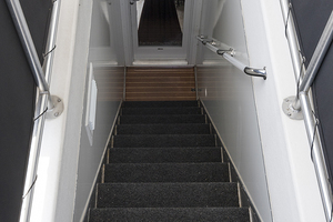 112' Fantasy 112' X 21' 2007 Midship interior staircase