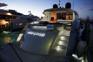 72' Pershing  2008 Starboard Aft Quarters At Night