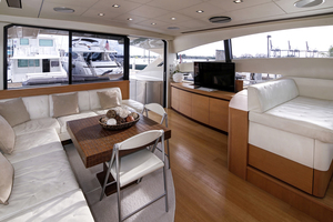 72' Pershing  2008 Salon Looking Aft