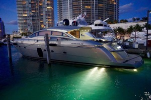 72' Pershing  2008 Port Side At Night