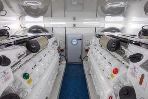 62' Titan Convertible 2019 42 Engine Room