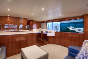 62' Titan Convertible 2019 8 Salon Starboard TV And Dinette