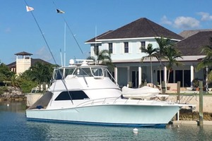 55' Viking Convertible 1999 Starboard View