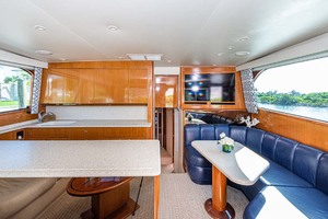 55' Viking Convertible 1999 Salon Fwd    Galley   Dinette