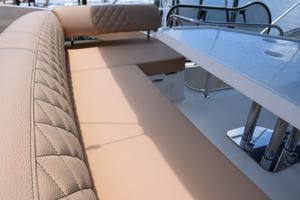 43' Azimut Flybridge Motor Yacht 2007 Flybridge Settee, Custom Upholstery