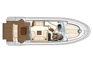 43' Azimut Flybridge Motor Yacht 2007 Main Cabin Deck Layout