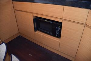 43' Azimut Flybridge Motor Yacht 2007 Galley microwave, hardwood sole
