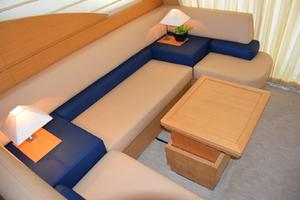 43' Azimut Flybridge Motor Yacht 2007 Salon Settee, Hi-Low Table and Custom Upholstery