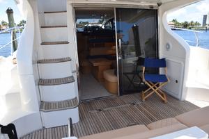 43' Azimut Flybridge Motor Yacht 2007 Aft Deck - Salon Door