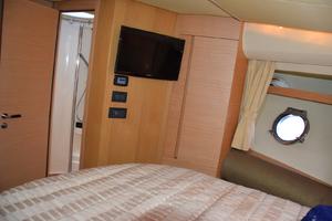 43' Azimut Flybridge Motor Yacht 2007 Master Stateroom, TV, entrance to Head