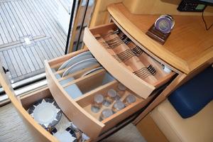 43' Azimut Flybridge Motor Yacht 2007 Azimut serving ware in drawers by Salon