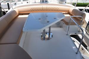 43' Azimut Flybridge Motor Yacht 2007 Flybridge Aft, Settee and Table