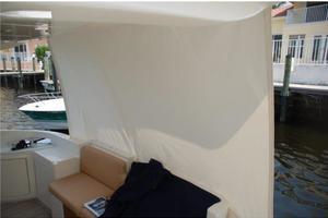 43' Azimut Flybridge Motor Yacht 2007 Aft Deck Sun Curtain