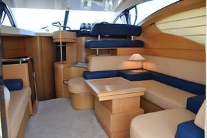 43' Azimut Flybridge Motor Yacht 2007 Salon Starboard