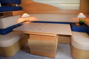 43' Azimut Flybridge Motor Yacht 2007 Dining Table Opened