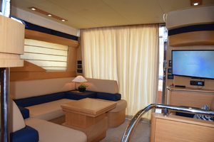 43' Azimut Flybridge Motor Yacht 2007 Back up to Salon, TV with SAT receiver