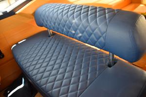 43' Azimut Flybridge Motor Yacht 2007 Helm Bench Seat - Custom Upholstery