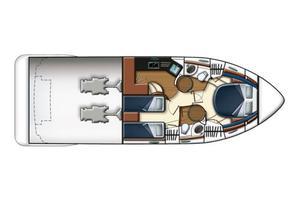 43' Azimut Flybridge Motor Yacht 2007 Stateroom Arrangement Layout