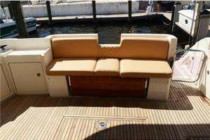43' Azimut Flybridge Motor Yacht 2007 Aft Deck Seating with Table Folded Down