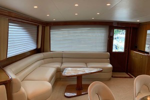 74' Viking Convertible 2005 Salon Settee to stbd