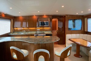 74' Viking Convertible 2005 Main Salon, Galley and Dinette