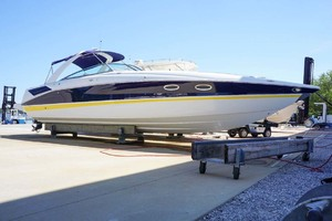 42' Baja 405 Performance 2007 Starboard View On Trailer