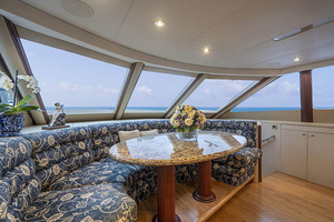 50' Lazzara Skylounge 2001 Country Kitchen Style Galley