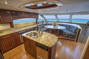 80' Lazzara Skylounge 2002 Country Kitchen Style Galley