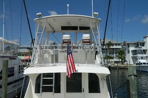 46' Post Sport Fisherman 1994 Flybridge Aft View