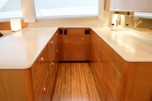 55' Viking 55 Convertible 2001 30 Galley
