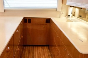 55' Viking 55 Convertible 2001 29 Galley