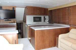 50' Hatteras 50 Convertible 1982 18 Salon Forward   Galley