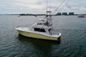 50' Hatteras 50 Convertible 1982 4 Port Aft   In Water