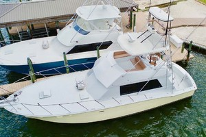50' Hatteras 50 Convertible 1982 6 Deck, Flybridge, Tower   From Above