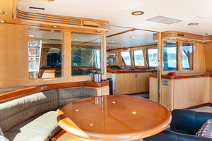 92' Motor Yacht Ortona Navi 1989 Enclosed Aft Dining