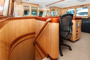92' Motor Yacht Ortona Navi 1989 Stairway to Lower Deck