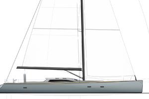 77' Goetz / Derecktor Custom Sparkman & Stephens Designed Performance Sailing Yacht 1996 LAYOUT
